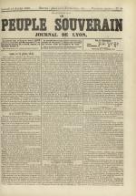 Le Peuple souverain : journal des intérêts démocratiques et du progrès social, N°99