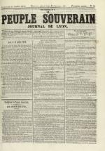 Le Peuple souverain : journal des intérêts démocratiques et du progrès social, N°98