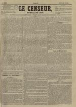Le Censeur : journal de Lyon, politique, industriel et littéraire, N°3636