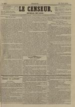 Le Censeur : journal de Lyon, politique, industriel et littéraire, N°3637