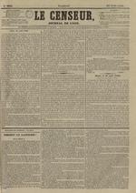Le Censeur : journal de Lyon, politique, industriel et littéraire, N°3641
