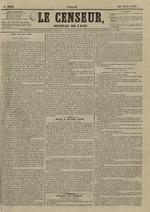 Le Censeur : journal de Lyon, politique, industriel et littéraire, N°3642