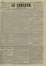 Le Censeur : journal de Lyon, politique, industriel et littéraire, N°3643