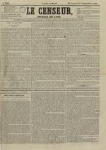 Le Censeur : journal de Lyon, politique, industriel et littéraire, N°3644