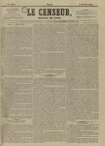Le Censeur : journal de Lyon, politique, industriel et littéraire, N°4091