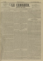Le Censeur : journal de Lyon, politique, industriel et littéraire, N°4092
