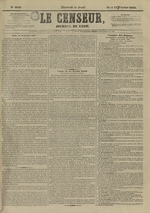 Le Censeur : journal de Lyon, politique, industriel et littéraire, N°4098