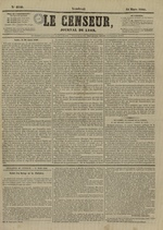 Le Censeur : journal de Lyon, politique, industriel et littéraire, N°4140