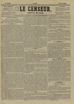Le Censeur : journal de Lyon, politique, industriel et littéraire, N°4143