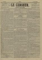 Le Censeur : journal de Lyon, politique, industriel et littéraire, N°4144