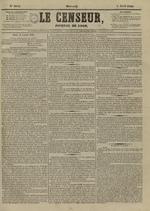 Le Censeur : journal de Lyon, politique, industriel et littéraire, N°4145