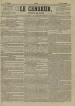 Le Censeur : journal de Lyon, politique, industriel et littéraire, N°4146