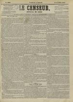 Le Censeur : journal de Lyon, politique, industriel et littéraire, N°4201