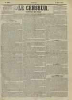 Le Censeur : journal de Lyon, politique, industriel et littéraire, N°4207