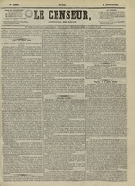 Le Censeur : journal de Lyon, politique, industriel et littéraire, N°4206