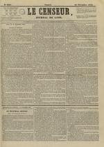 Le Censeur : journal de Lyon, politique, industriel et littéraire, N°4394, pp. 1