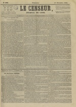 Le Censeur : journal de Lyon, politique, industriel et littéraire, N°4395, pp. 1