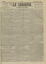 Le Censeur : journal de Lyon, politique, industriel et littéraire, N°4399