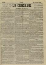 Le Censeur : journal de Lyon, politique, industriel et littéraire, N°4400