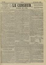 Le Censeur : journal de Lyon, politique, industriel et littéraire, N°4401