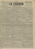 Le Censeur : journal de Lyon, politique, industriel et littéraire, N°4402