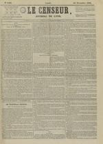 Le Censeur : journal de Lyon, politique, industriel et littéraire, N°4403