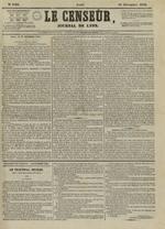 Le Censeur : journal de Lyon, politique, industriel et littéraire, N°4405