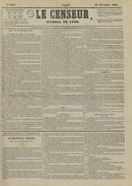 Le Censeur : journal de Lyon, politique, industriel et littéraire, N°4407