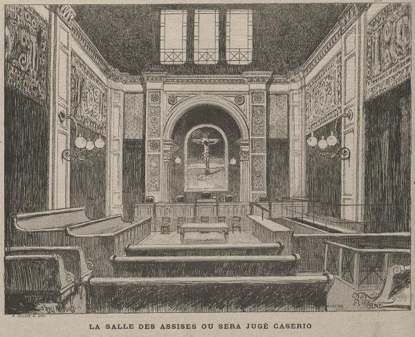 La salle des assises où sera jugé Caserio