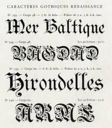 Gothiques Renaissance, Exemple, Gothiques Renaissance, n° 1