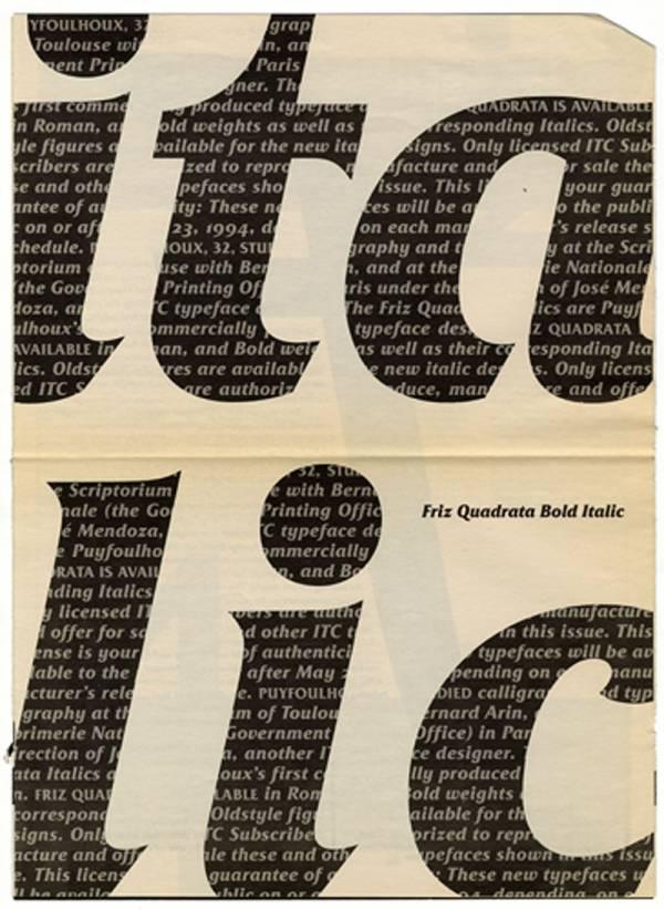 Friz Quadrata Italique