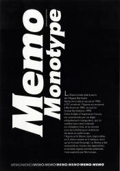 Memo, Exemple, Memo, n° 1