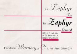 Zéphyr, Exemple, Zéphyr, n° 5