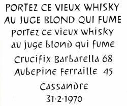 Cassandre, Exemple, Cassandre, n° 3