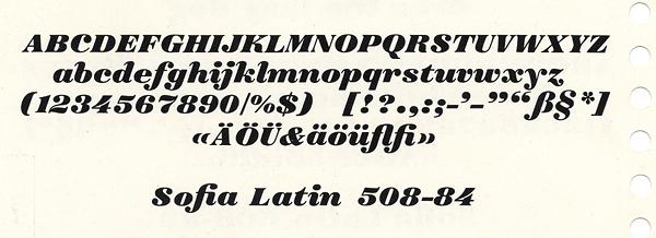 Sofia, Exemple, Sofia, n° 8
