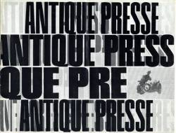 Antique Presse, Exemple, Antique Presse, n° 1