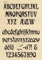 Caractères étiquettes, Exemple, Caractères étiquettes, n° 1