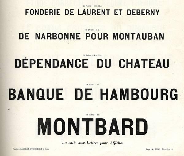 Caractères d'affiches Laurent & Deberny