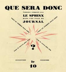 Sphinx, Exemple, Sphinx, n° 7