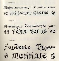 Fantasques Warnery, Exemple, Fantasques Warnery, n° 1