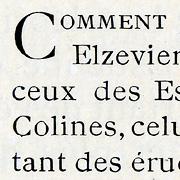 Néo Elzévier, Exemple, Néo Elzévier, n° 2