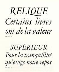 Garamond Peignot, Exemple, Garamond Peignot, n° 6
