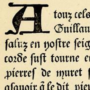 Gothique XVe siècle, Exemple, Gothique XVe siècle, n° 1