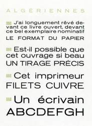 Algériennes, Exemple, Algériennes, n° 1