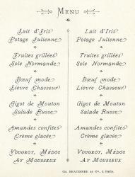 Maigrettes Turlot, Exemple, Maigrettes Turlot, n° 2