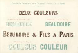 Lettres en deux couleurs, Exemple, Lettres en deux couleurs, n° 1