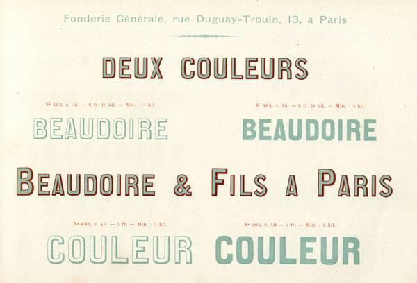 Lettres en deux couleurs