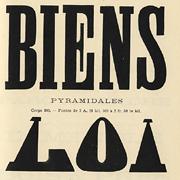 Caractères d'affiches Bertrand, Exemple, Caractères d'affiches Bertrand, n° 1