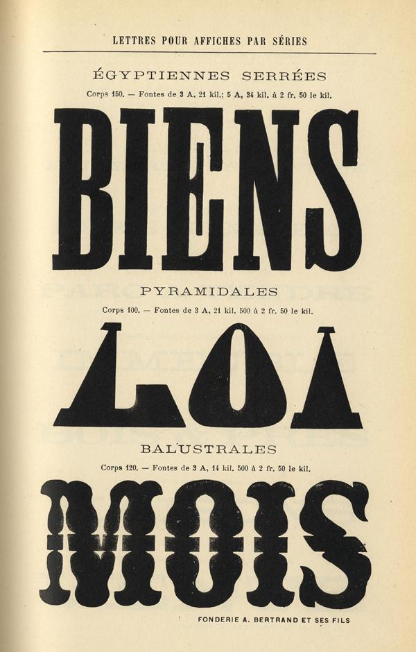 Caractères d'affiches Bertrand