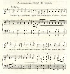 Musique Beaudoire, Exemple, Musique Beaudoire, n° 1